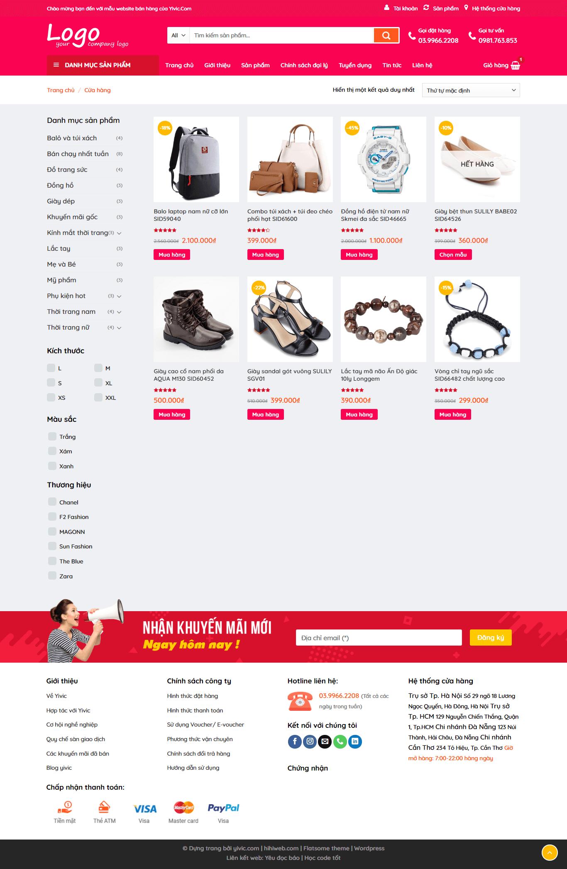 Lọc sản phẩm và hiển thị sản phẩm cùng chuyên mục web bán hàng chuyên nghiệp